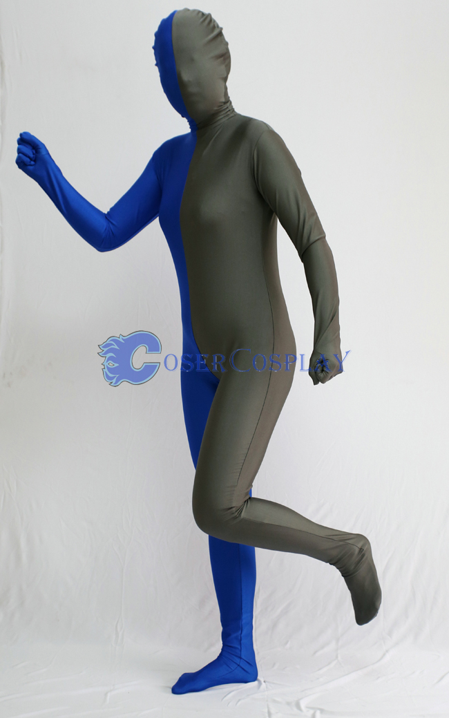 Grey And Blue Full Body Suit